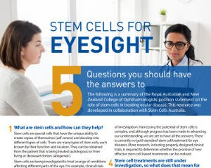 Stem Cells For Eyesight